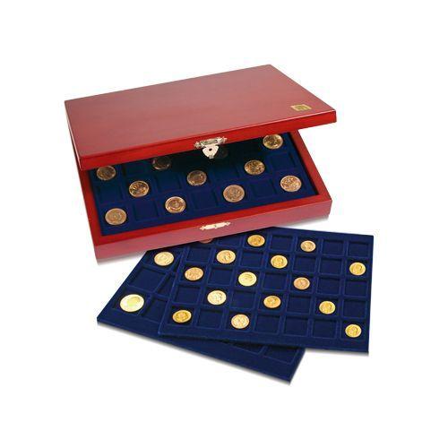 Φύλαξη & Οργάνωση των Νομισμάτων σας Υψηλής ποιότητας κασετίνα Elegance με ειδικό κούμπωμα, σχεδιασμένη για τους πιο απαιτητικούς συλλέκτες με 3 Ράφια διαφόρων συνδυασμών και βελούδινη επένδυση για προστασία από γρατσουνιές.  Αναδεικνύει το εύρος της μοναδικής Συλλογής σας και εξασφαλίζει τη διαχρονική προστασία των νομισμάτων σας.  Εξασφαλίστε την εδώ→ https://goo.gl/Km0cTN