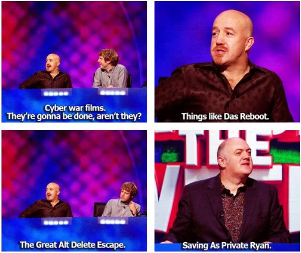 Cyber war films | Andy Parsons and Dara O'Briain | Mock the Week