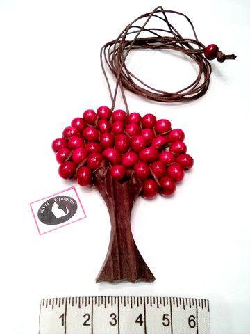 Χειροποίητο ξύλινο μακρύ κολιέ δέντρο της ζωής!