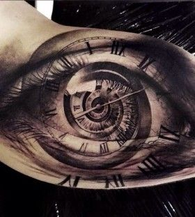 Gorgeous watch eye tattoo