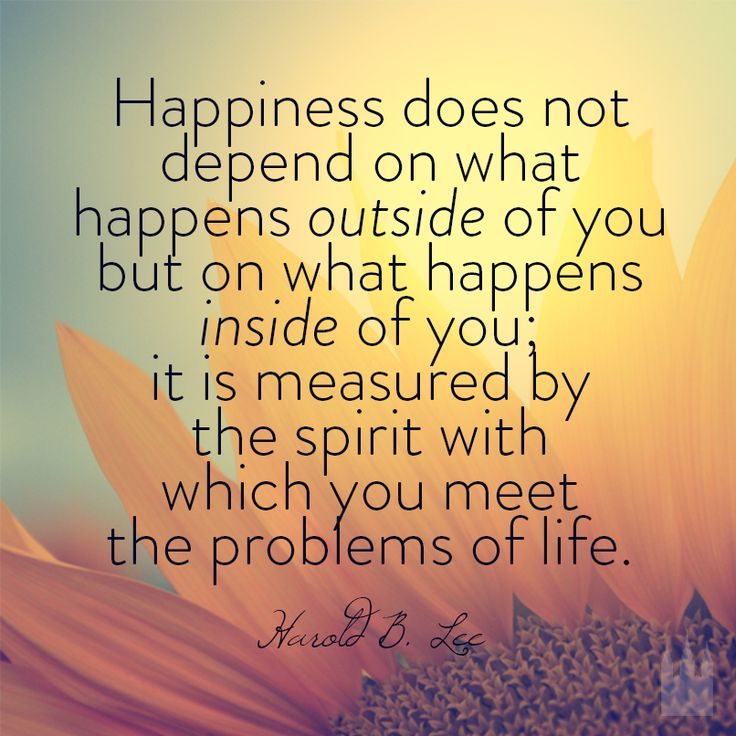 You will never find happiness in other people or material things. Happiness is having a genuine relationship with God - Things 2 Hope 4