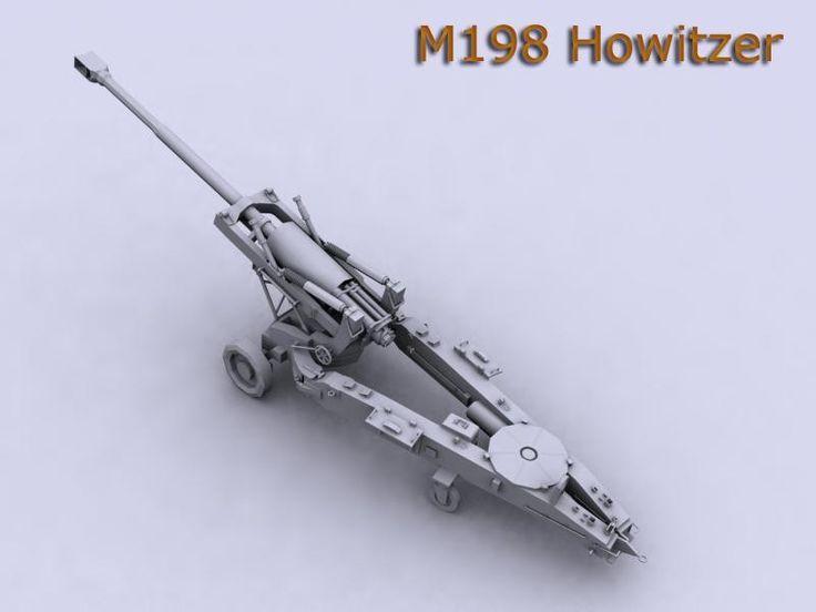 Maya M198 Howitzer Artillery - 3D Model