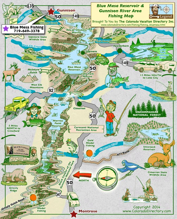 22 Best Images About Co Fishing Maps On Pinterest Mesas