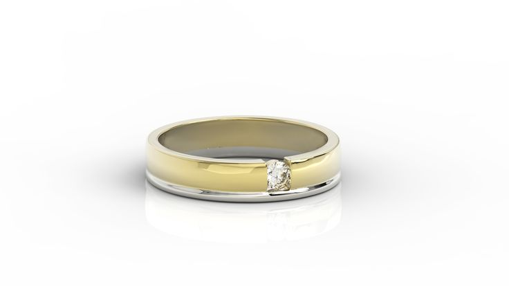Pierścionek z zółtego złota z diamentem. / Yellow gold ring with diamond.