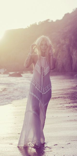 lace maxi on the beach