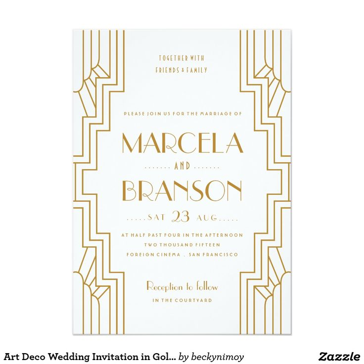 Best 25 Art deco invitations ideas – Art Deco Wedding Invitations Uk