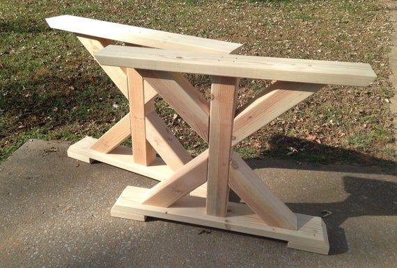 farmhouse trestle table legs x frame