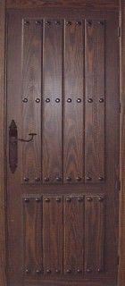 puerta de entrada rústica de tabla partida