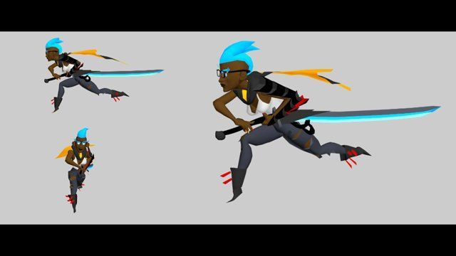 Thread on polycount:  http://www.polycount.com/forum/showthread.php?t=145716  Riot Games put on an art contest over on the polycount forums (http://www.polycount.com/riotcontest2014/). The Animation category rules were that you could use any rig and create a walk or run cycle and a special attack; while adhering to League of Legends animation style and dynamic poses.  I concepted, modeled, and rigged, this mohawk warrior prior to animating her. I had lots of fun.  All animation is ...