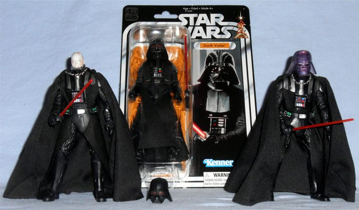 Hasbro - Star Wars Black Series Darth Vader 2014 #2 - Darth Vader 2017 40th Legacy Pack - Darth Vader 2015 Walgreens Exclusive - Darth Vader Emperor's Wrath
