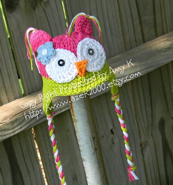 Baby Girl Owl Hat, Crochet Baby Hats, Baby Girl, Baby Girl Hats, Photo Photography Prop, MADE TO ORDER on Etsy, $26.00