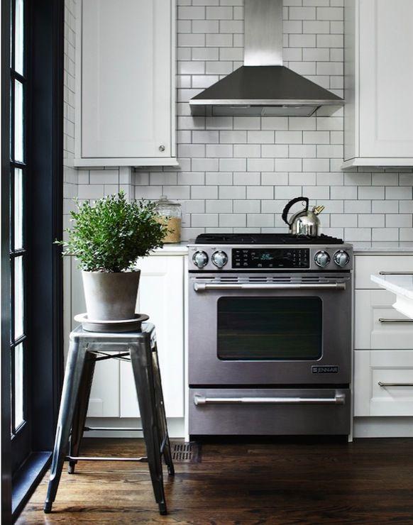 subway tile in kitchen   White Subway Tile Backsplash - Transitional - kitchen - Angus ...