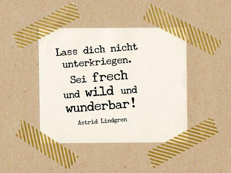 Sei+frech+und+wild+und+wunderbar!+/+Stempel+3x3cm++von+Im+Wohnzimmer+auf+DaWanda.com