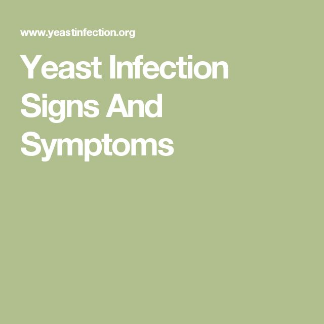 Yeast Infection Signs And Symptoms