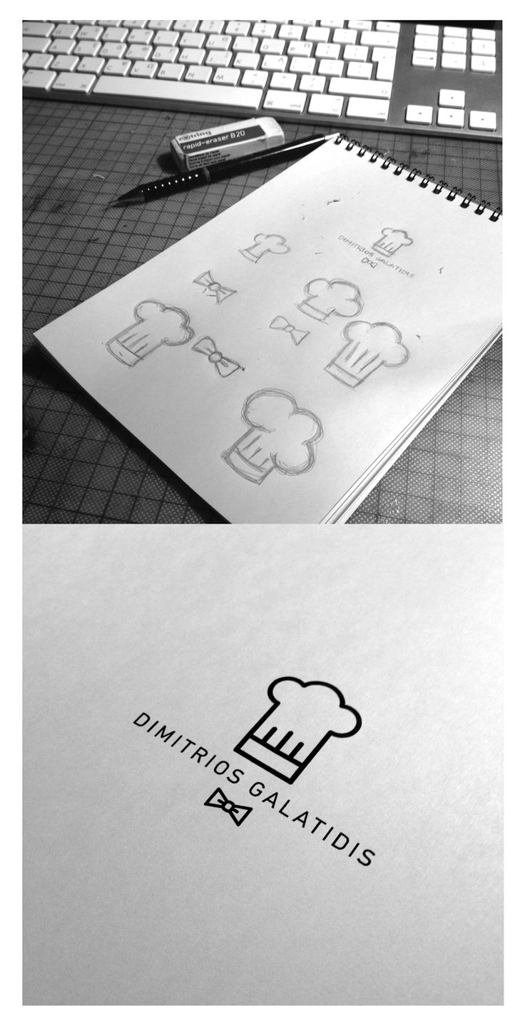 Logo process for executive chef.