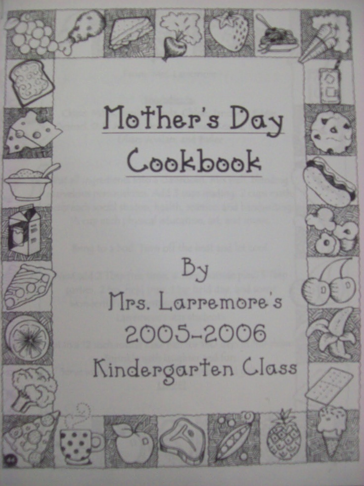 Mothers Day cookbook. @Karyn Holinaty Owens @Jamie Wise Butler- ive done this for the past several years. turns out super cute! :)