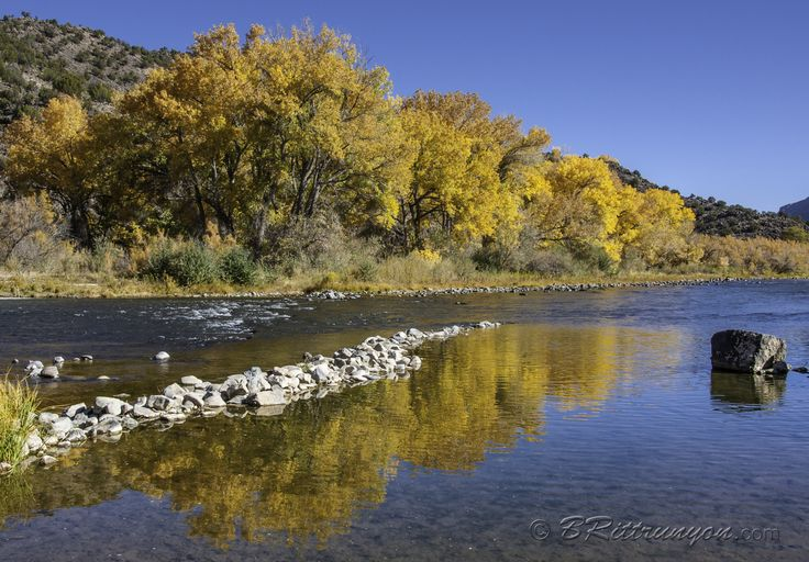 One of my favorite New Mexico locations for shooting the fall colors along the Rio Grande. Who can tell me where this is?  Feel free to share my images with your online friends. If you enjoy my images, like my page. My latest exploits can be found at brittrunyon.com Image prints, greeting cards and more at britt-runyon.pixels.com