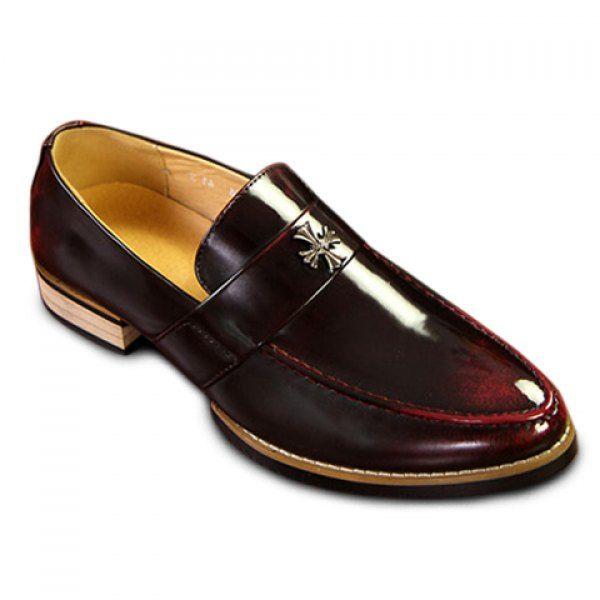Stylish Pointed Toe and Genuine Leather Design Men's Formal Shoes