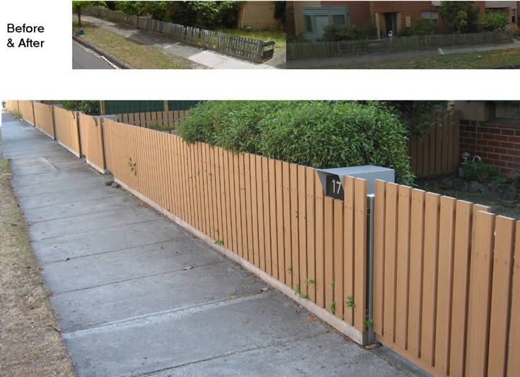 Fence; timber removed and replaced with ModWood #ModWood #Screen #Fence