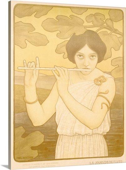 La Joyeuse de Flute,Vintage Poster, by Paul Berthon