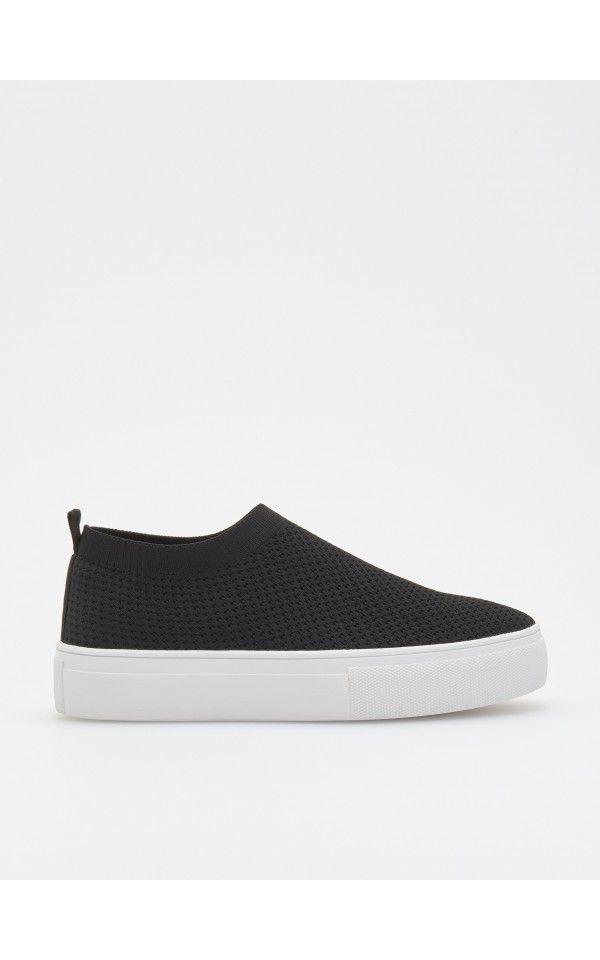 caa9b2739965 Děrované boty ze strečové pleteniny