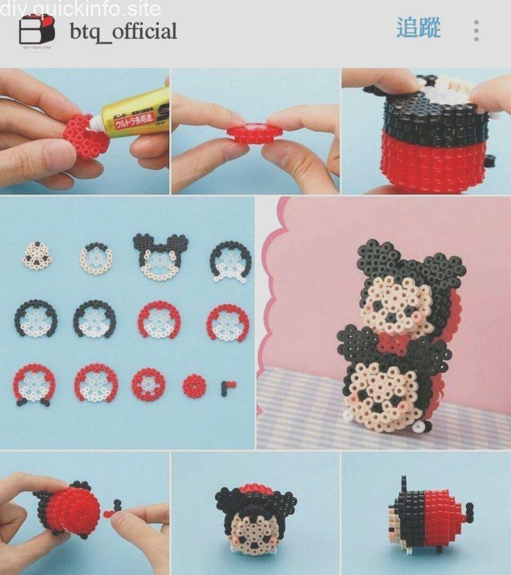 3D Hamma Bead Mickey Mouse, #Bead #Hamma #hammaBeading #Mickey #Mouse