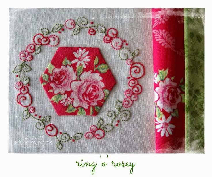 Ring 'o' Rosey - one of six designs in month 4 of the Stitchery Club!  Click on the photo to join. www.elefantz.com