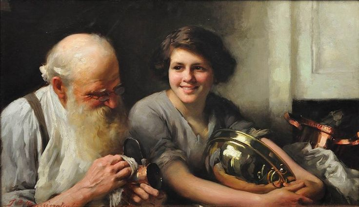 Thomas Benjamin Kennington Счастливое сердце стучит долго 1912