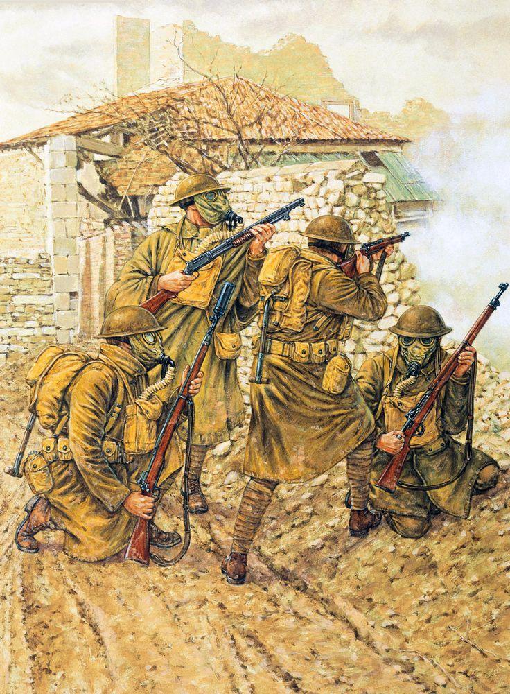 US Doughboys at Consenvoye, October 9, 1918