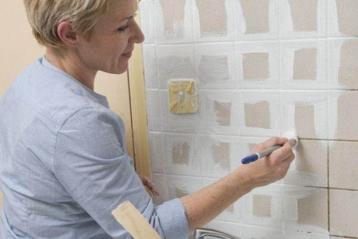 ber ideen zu fliesen streichen auf pinterest badfliesen streichen grauer. Black Bedroom Furniture Sets. Home Design Ideas