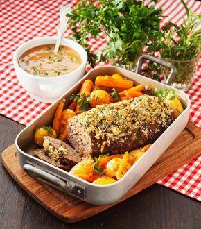 Klassisker med twist: Köttfärslimpa med vitlök- och parmesanströssel
