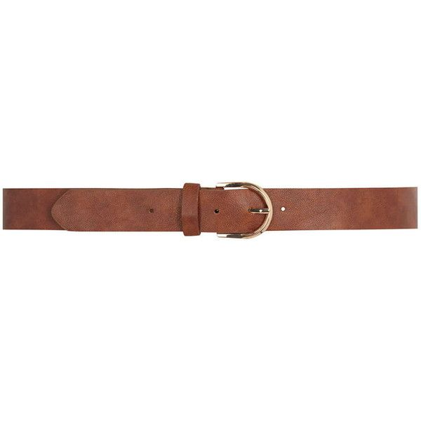 Dorothy Perkins Chesnut Cresent Jean belt ($8) ❤ liked on Polyvore featuring accessories, belts, brown and dorothy perkins