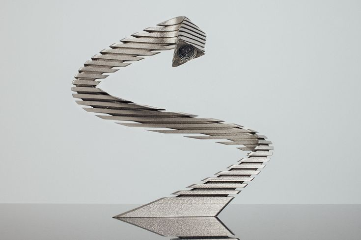 "NEW TAP WORK OF ART GIACOMINI DESIGN ""SNAKE"" IN TITANIUM. DESIGN OF MASSIMO MARZORATI. FOR EXCLUSIVE BATHROOM STYLING"