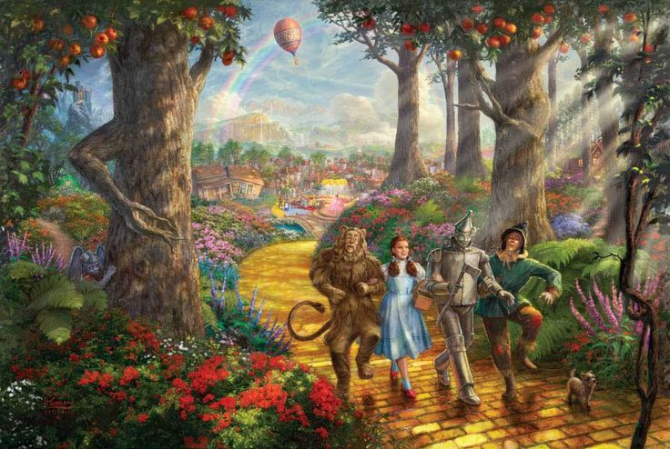 thomas kinkade paintings disney collection | ... the yellow brick road thomas kinkade | Thomas Kinkade (Disney