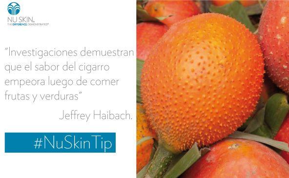 Si quieres dejar el cigarro, comer una fruta o verdura antes puede ayudarte #NuSkinTip