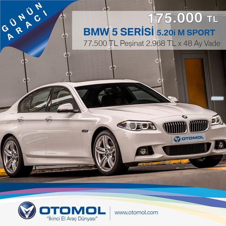 """GÜNÜN ARACI* """"OLAĞANÜSTÜ ŞIK!"""" BMW 5 SERİSİ 5.20i M SPORT Model Yılı: 2014 - KM: 10.425 KM Fiyat: 175.000 TL Detaylar Burada : http://goo.gl/jWdUcO #otomol #gununaraci #BMW #BMW520i"""