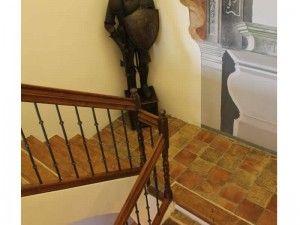 Rellano escalera de barro cocido.