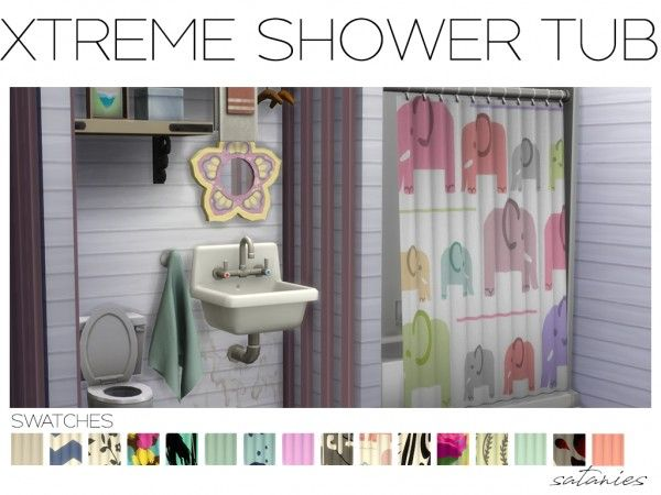 The Sims 4 Satanies Parenthood Shower Tub Shower Tub Sims 4 The Sims 4 Packs