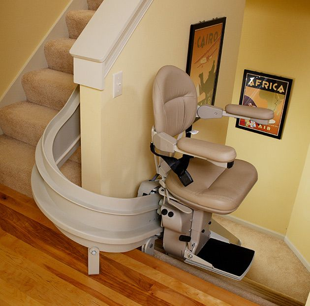 Bruno Indoor Curved Stair Lift Stair Lifts Stair Lift Curved Chair