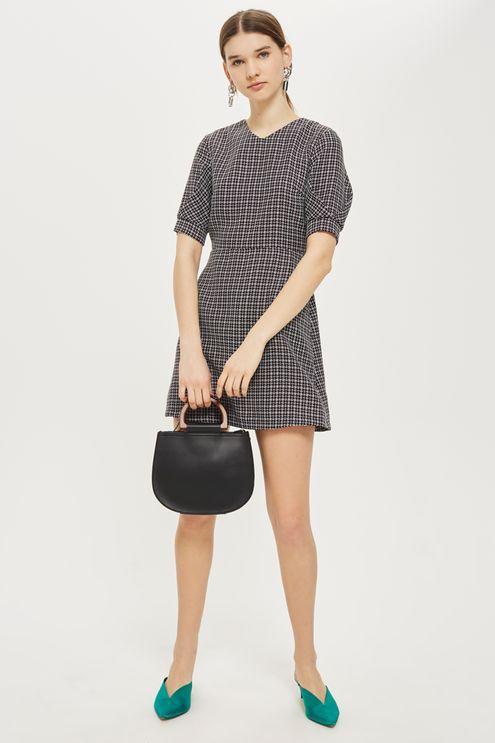 Textured Seam Mini Dress