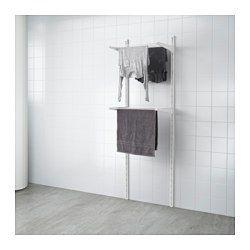 ALGOT 壁用支柱/物干しラック, ホワイト - IKEA