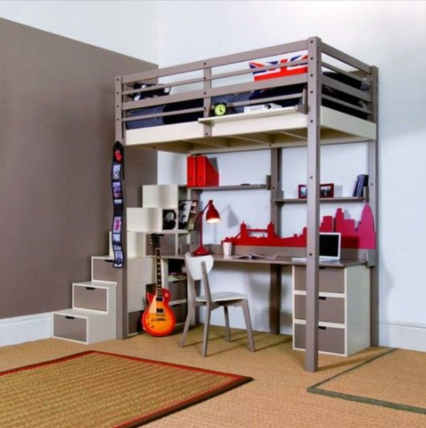 bunk bed with desk underneath nz | bunk beds | Pinterest ...