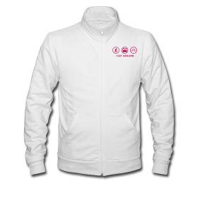 """I Get Around"" American Apparel Track Jacket Unisex   Pink Graphic $39.99"