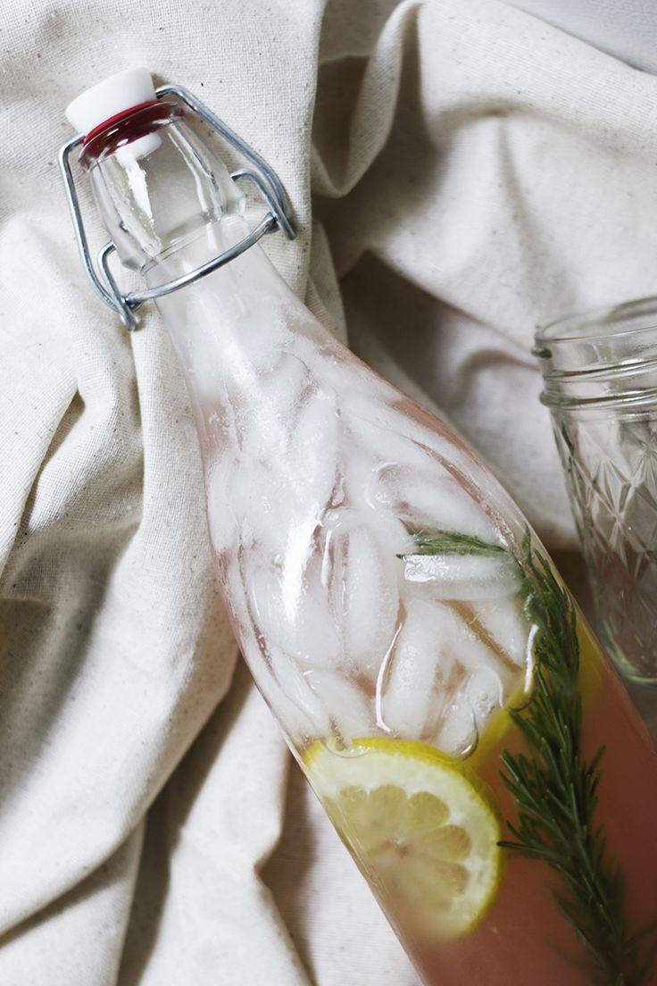 Rosemary Rhubarb Lemonade | The Merrythought
