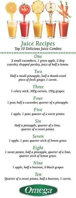 Don't be afraid of juice! These combinations have so many healing properties!