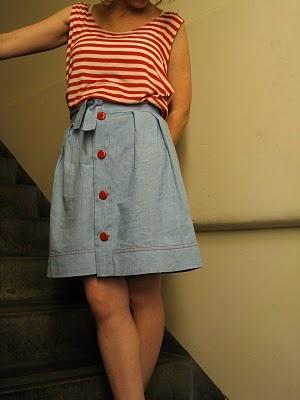 Chambray Wiksten Tulip Skirt