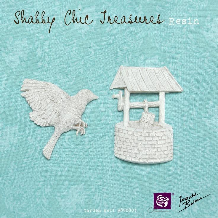 Shabby Chic Resin Treasures - Garden Well