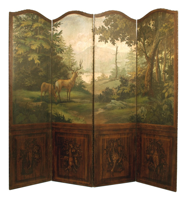20 best folding screens images on pinterest folding for Painted screens room dividers