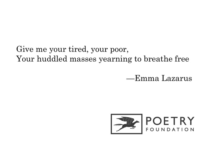 """The New Colossus"" by Emma Lazarus"