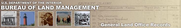 Bureau of Land Management - General Land Office Records